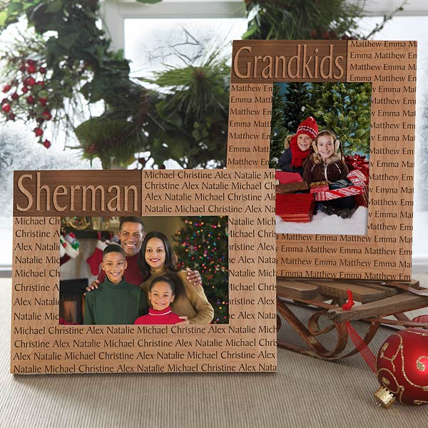 Personalized Family Name Wood Picture Frame - 4219