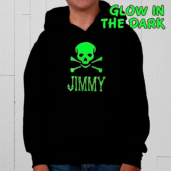 Personalized Glow In The Dark Skull and Crossbones Shirts - 4283