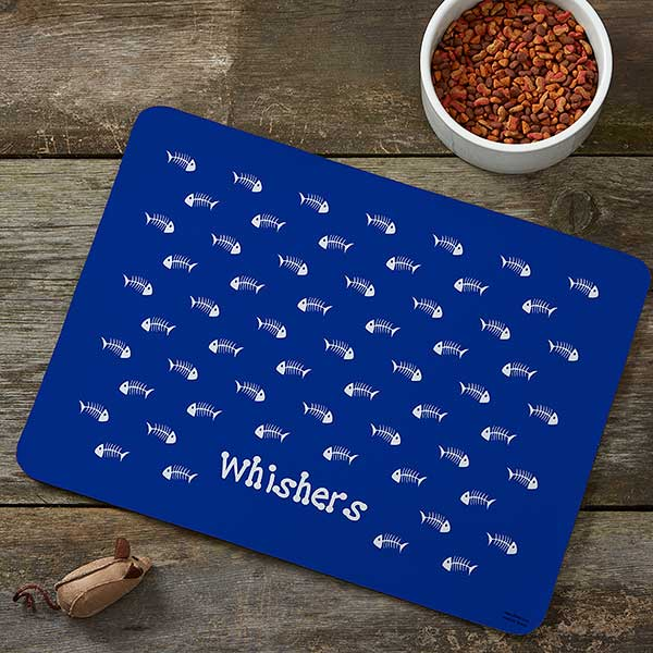 Personalized Cat Food Mat - Kitty Kitchen - 4298