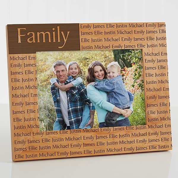 Custom Engraved Wood Photo Frame 5x7 For Her