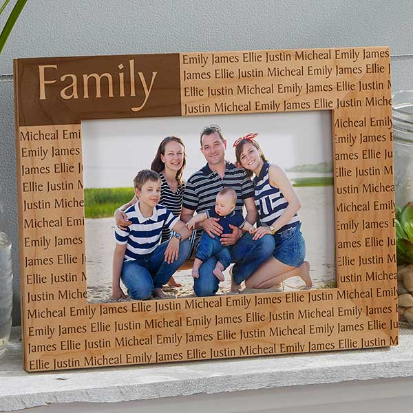 Custom Engraved Wood Photo Frame 5x7