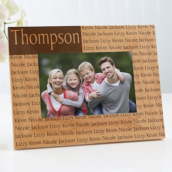 Personalized Family Name Wood Picture Frames Engraved Free
