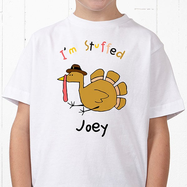 a50f7ebeb Personalized Kids T-Shirts - Thanksgiving Turkey - Thanksgiving Gifts