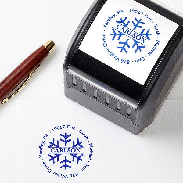 Custom Snowflake Address Stamp - 4682