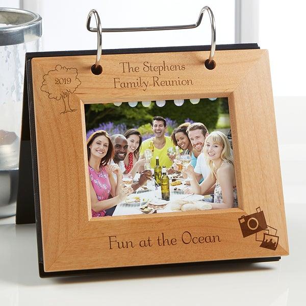 Personalized Wood Photo Flip Album - 4764