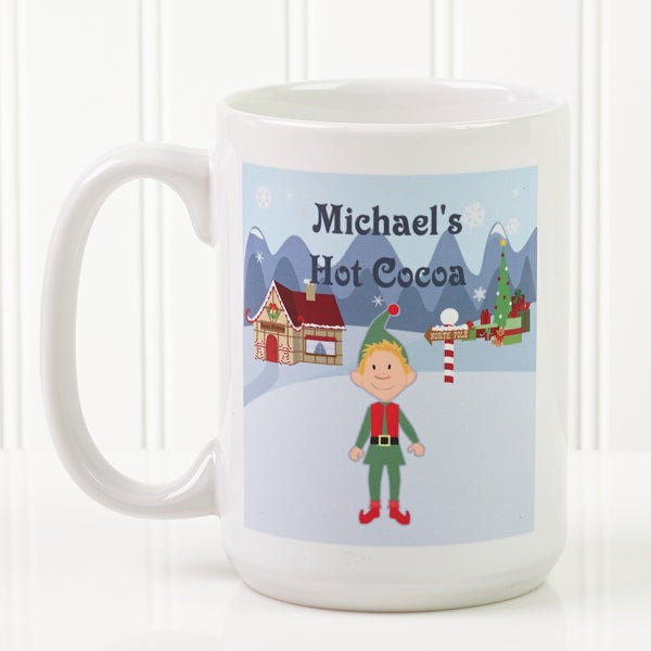 Christmas Mugs.Personalized Large Christmas Mugs For Kids Christmas Characters Design