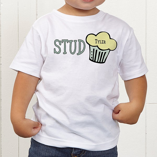 614e3ccb5 Personalized Baby Boy Toddler T-Shirt - Stud Muffin - Valentine's ...
