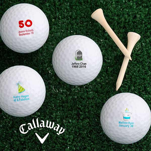 Personalized Birthday Golf Balls - Birthday Celebration Style - 4914