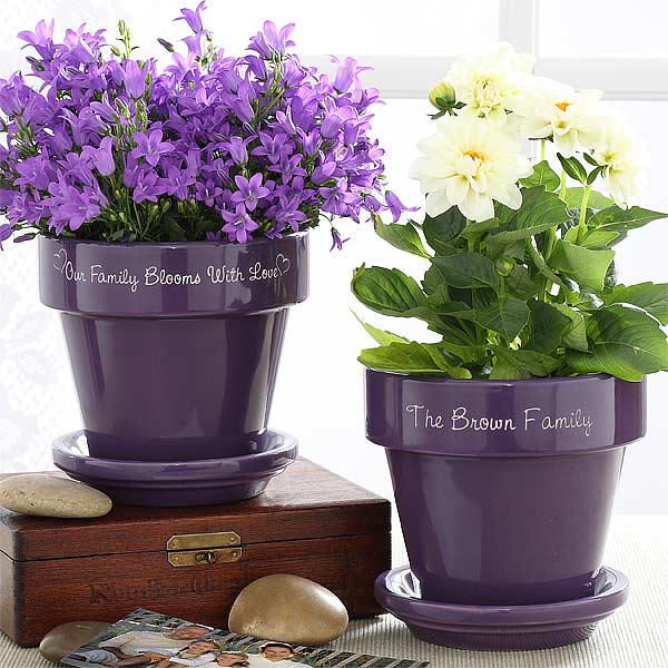 Family Name Personalized Flower Pots - 4948