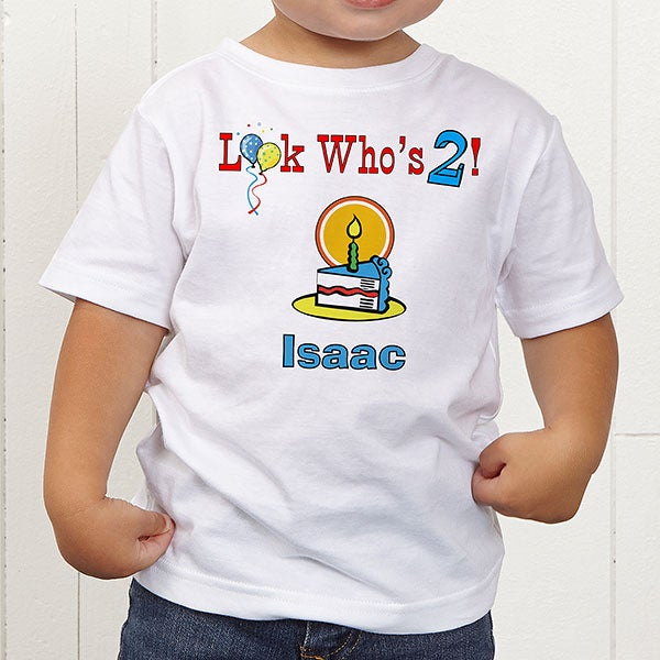 Birthday Kid Personalized Toddler T Shirt