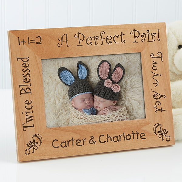 5085 - A Perfect Pair Personalized Twin Frame
