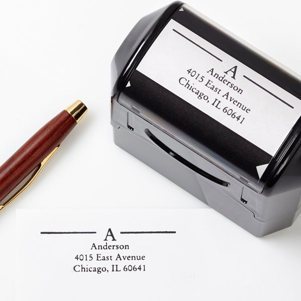Self-Inking Personalized Address Stamp - Initially Yours - 5185