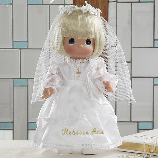 Personalized First Holy Communion Doll Precious Moments Blonde Doll