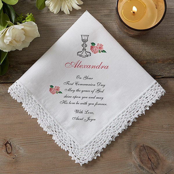 Personalized First Communion Handkerchief - 5250