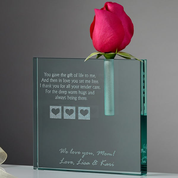 A Mother's Love Personalized Keepsake Bud Vase - 5331