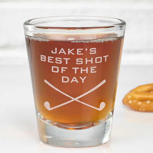 Best Shot Of The Day Personalized Golf Shot Glass - 5479
