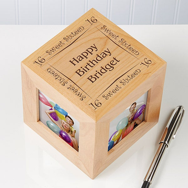 Personalized Birthday Picture Cube - Birthday Memories  - 5509