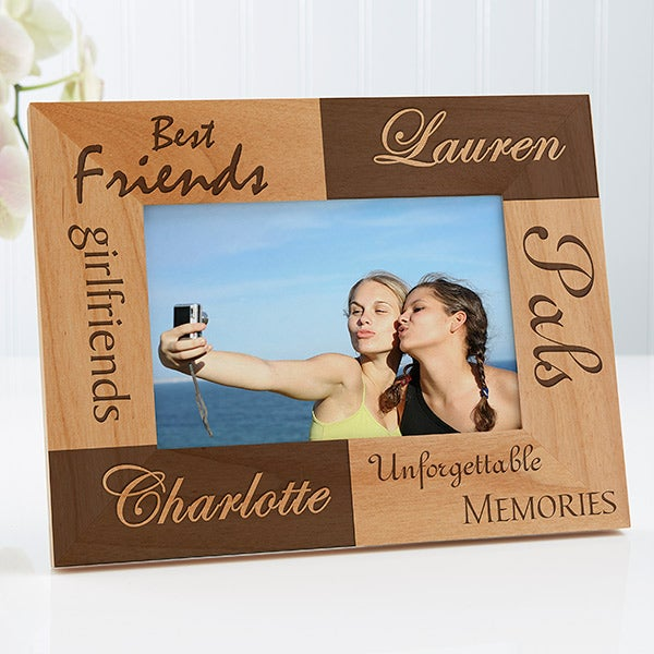 Personalized Best Friends Wooden Picture Frames Engraved Free