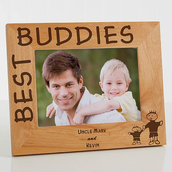 Personalized Wood Picture Frame - Best Buddies Design - 5533