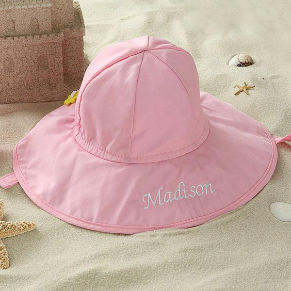 Personalized Pink Sun Hat for Baby Girls - 5550 4365d20ee141