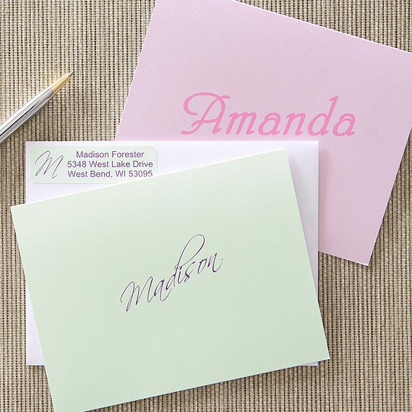 Ladies Personalized Note Card Stationery Set - 5675