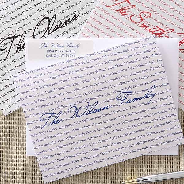 Family Names Personalized Note Card Set - 5703