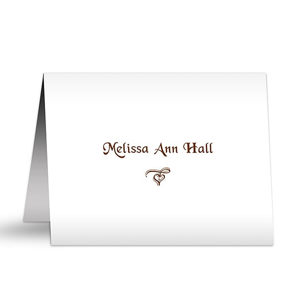 Personalized Stationery Note Cards - Signature Style - 5765