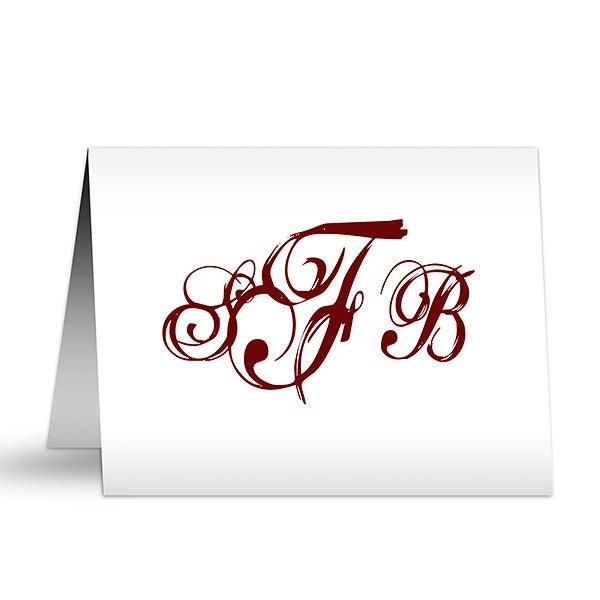 Personalized Note Cards - Script Monogram - 5767