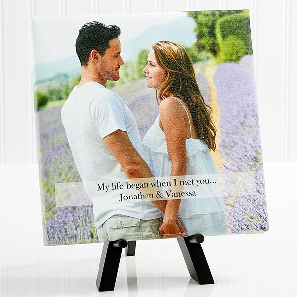 Two Hearts One Love Romantic Canvas Photo Art - 5820