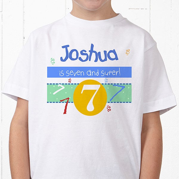 Personalized Kids Birthday Clothing