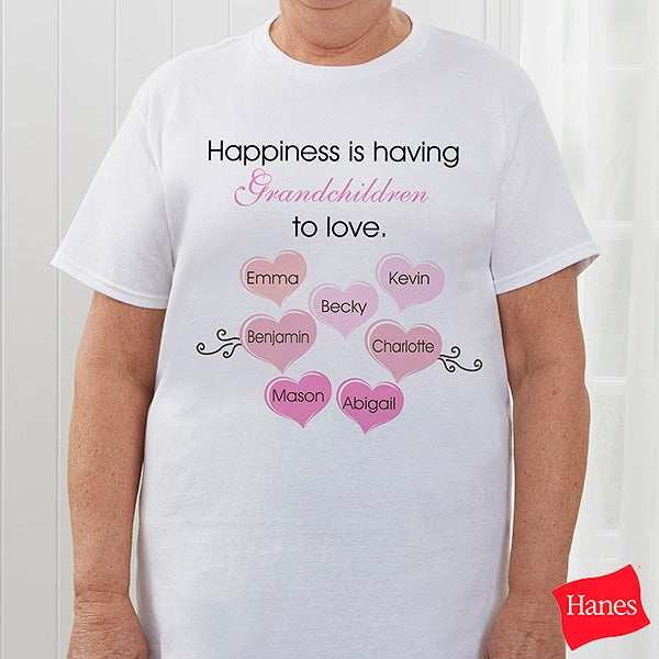 Happiness Personalized Womens Clothing For Mothers & Grandmothers - 5920
