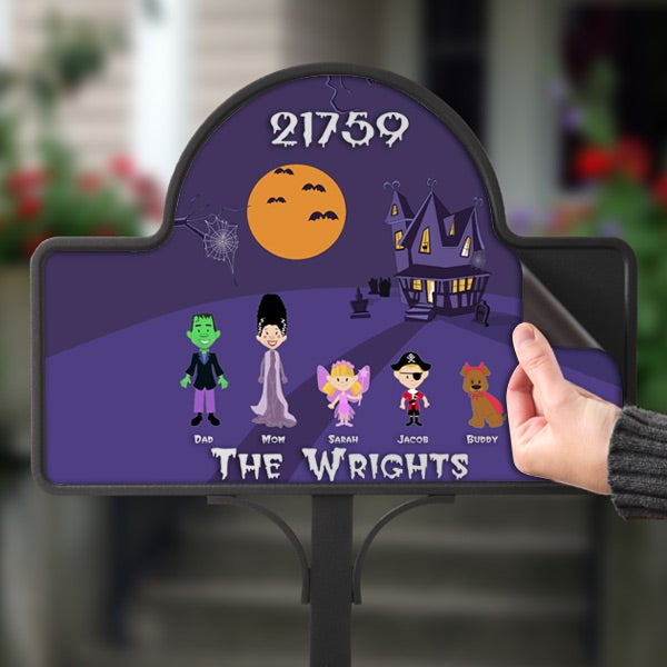 Personalized Halloween Lawn Decor Character Yard Stake - 5923