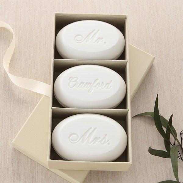 Mr & Mrs Personalized Wedding Soap Set - 5993D
