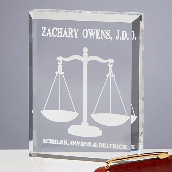 The Lawyer Personalized Paperweight