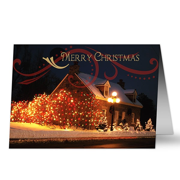 Holiday Home Personalized Christmas Cards - 6164