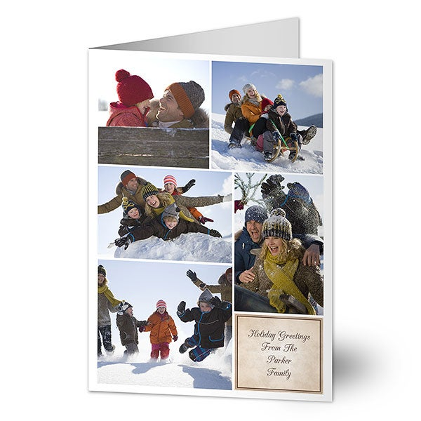 6186 5 photo collage digital photo christmas cards