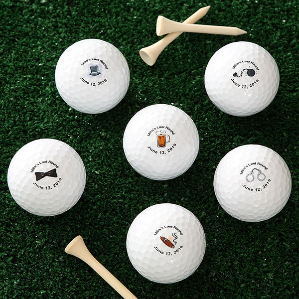 Personalized Wedding Golf Balls Groom S Last Round