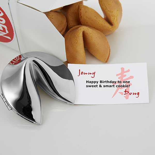 Personalized Silver Birthday Fortune Cookie - Fortunes of Longevity Style - 6245