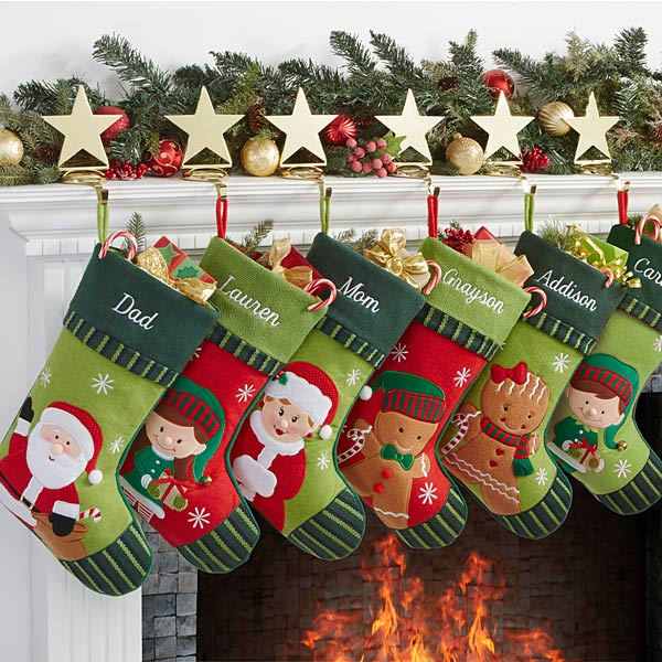 Two Super Cute His and Her Scrappy Christmas Stockings. The finished size of this stocking is approximately 6″ x 15″. This is a smaller stocking (that's just what I grew up with) so, if you like big ones you will need to adjust the pattern accordingly.