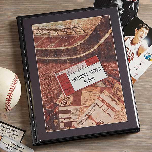 Personalized Sports Ticket Stub Scrapbook Album - 6361