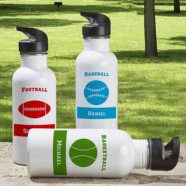 Personalized Aluminum Sports Water Bottle - 6365