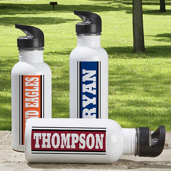Aluminum Personalized Sports Water Bottle - You Name It - 6382