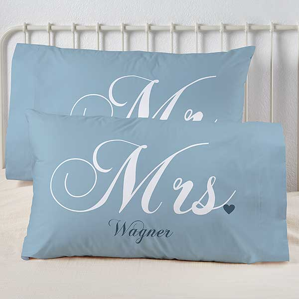 and Mrs Couples Pillows Personalized Pillow Case, Mr Custom Wedding Gift Pillow Case Personalized Name Pillowcase Custom Pillowcases