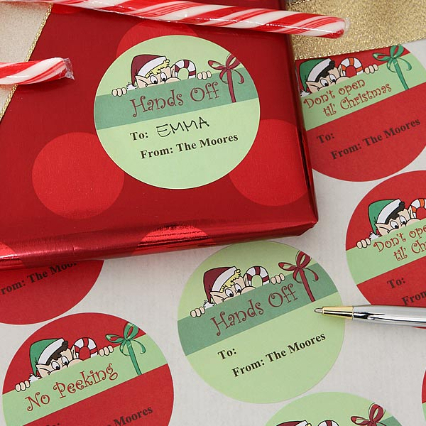 Personalized Christmas Gift Tag Stickers - Don't Open Until Christmas - 6448