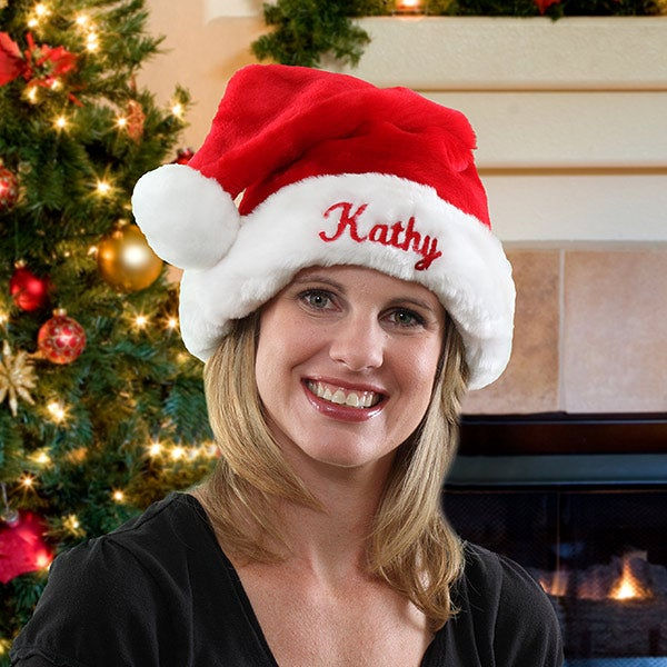 personalized santa claus christmas hat for adults christmas corner personalized santa claus christmas hat for adults