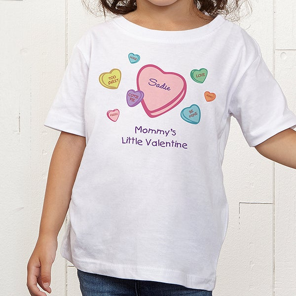 047855174 Candy Hearts Personalized Valentine's Day Clothes - 6527. Custom Kidz