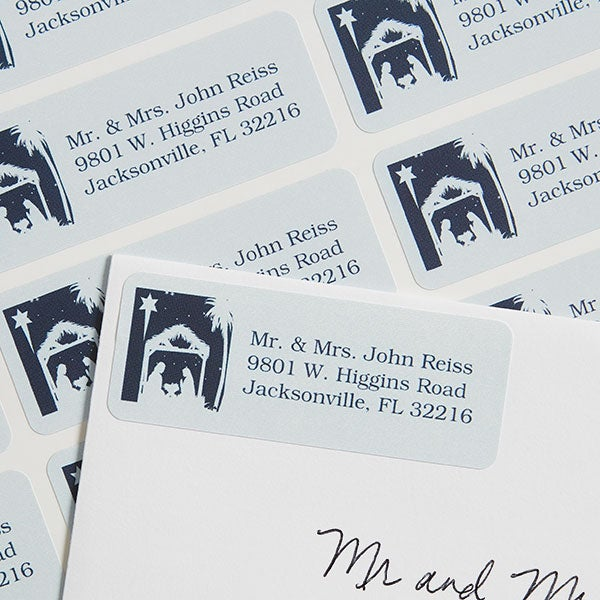 Christmas Nativity Personalized Return Address Labels - 6535