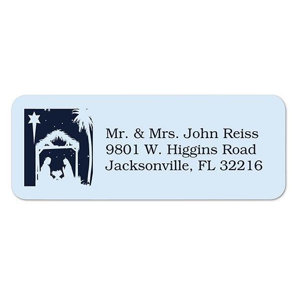 Christmas Address Labels.Away In A Manger Return Address Labels