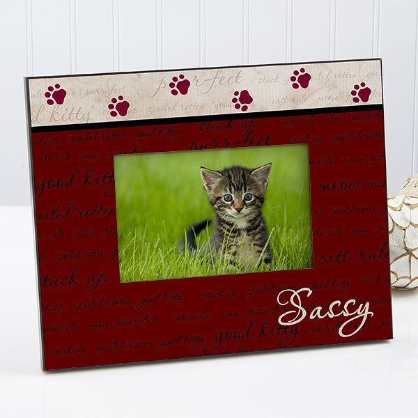 Personalized Cat Picture Frame - Good Kitty - 6552