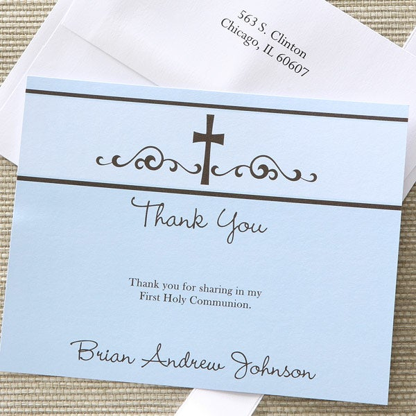 Precious Prayer Thank You Cards Blue